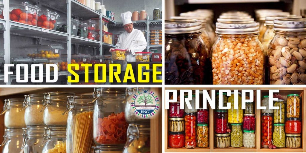 food storage principle in hotel and restaurant