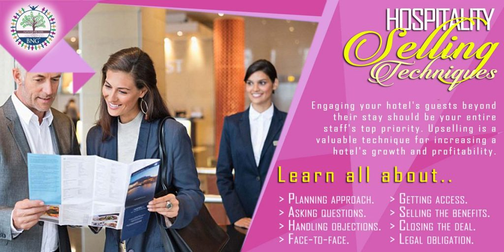 Hotel Selling Techniques by BNG Hotel Management Kolkata