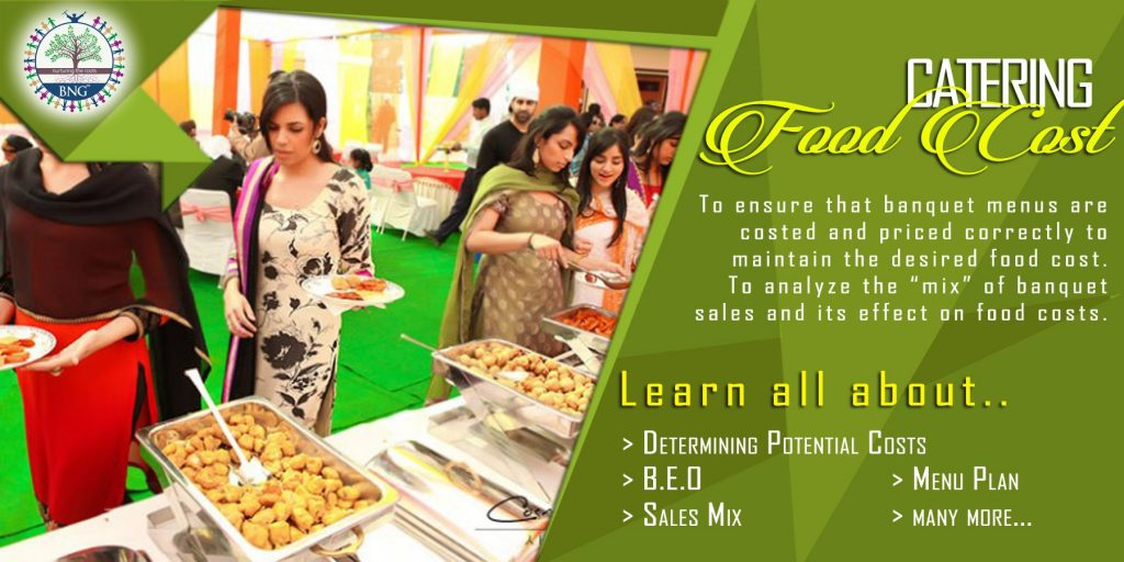 Catering Potential Food Cost Calculation by BNG Hotel Management Kolkata