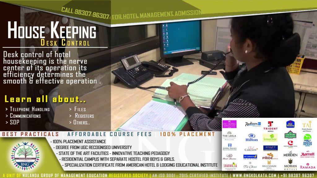 housekeeping desk control by BNG Hotel Management Kolkata