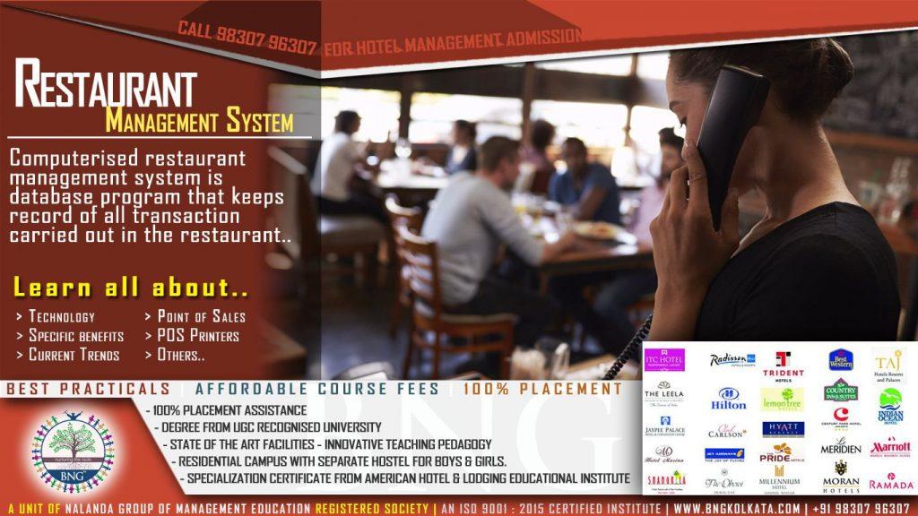 Restaurant Management System by BNG Hotel Management Kolkata