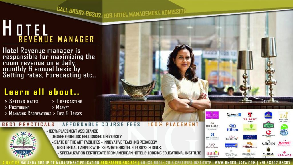 hotel revenue manager by BNG Hotel Management Kolkata