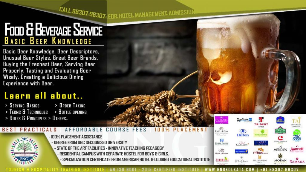 Basic Beer Knowledge by BNG Hotel management kolkata