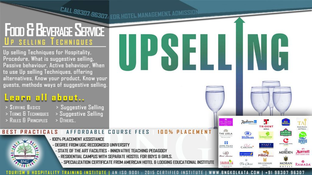 Up selling Techniques by BNG Hotel Management Kolkata