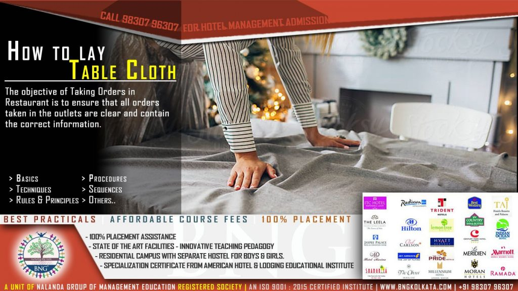 How to lay Table Cloth By BNG Hotel Management Kolkata
