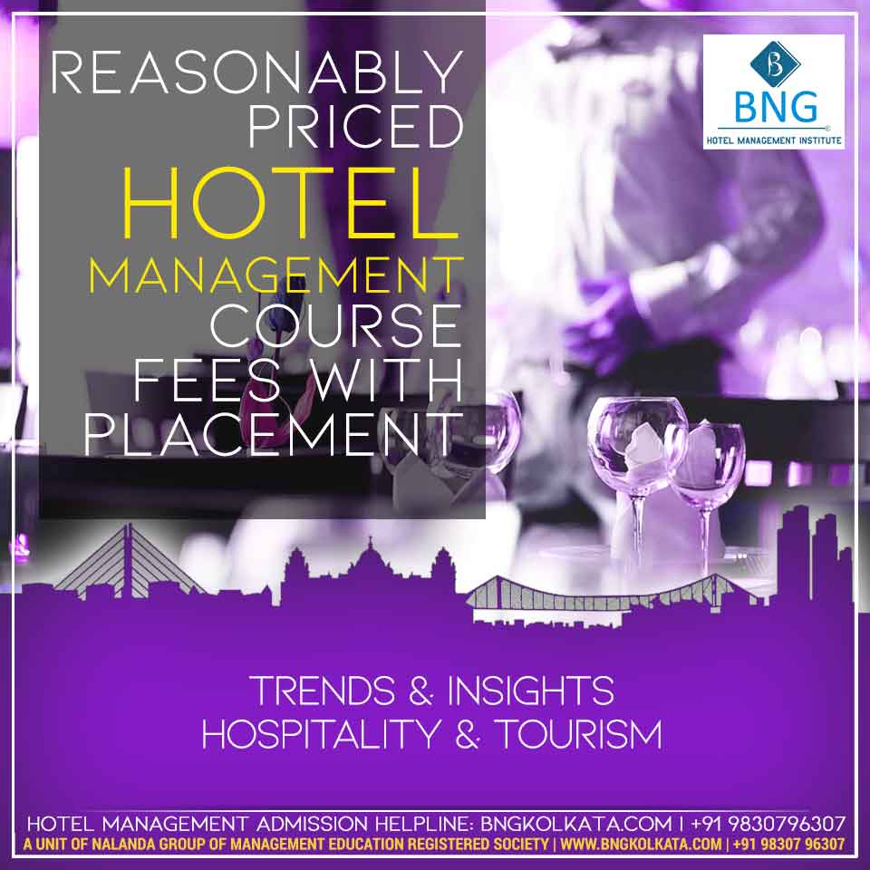 Reasonably priced Hotel Management Course fees With Placement